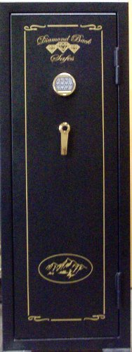 Cobalt Safes Diamond Back 20 Gun Safe Fire Resistant w/ Keypad
