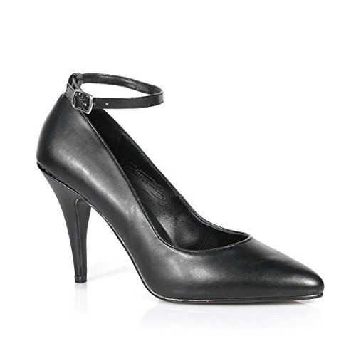 Summitfashions Womens Evening Shoes 4 Inch Heels Sexy Classic Pump Shoes Ankle Strap Black Size: (4 Inch Sexy Classic Pump)