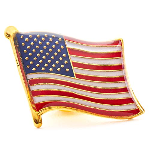Juvale American Flag Lapel Pins - 60-Pack USA Enamel Pins, Patriotic US Flag Pins for National Days Celebrations and Daily Outfits, 0.7 x 0.38 x 0.6 Inches