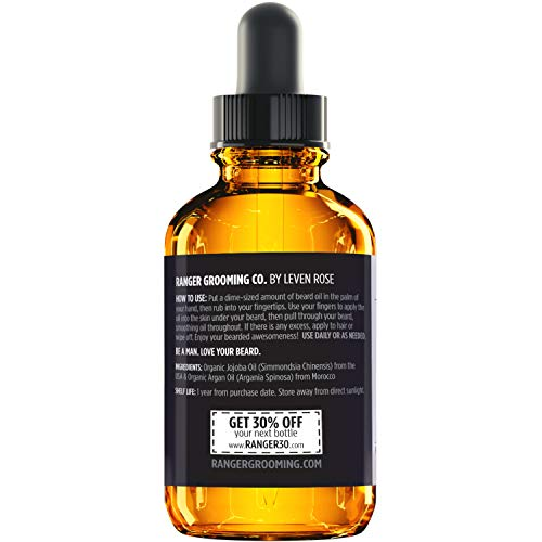 Fragrance Free Beard Oil  Leave In Conditioner 100 Pure Natural for Groomed Beards Mustaches