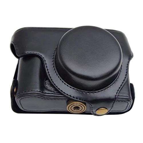 - Wusad PU Leather Case Bag Cover with Shoulder Strap for Olympus XZ-1 XZ-2 XZ1 XZ2 XZ 1 XZ 2 Camera (Black)
