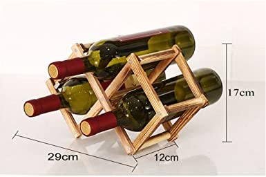 TYXQ Botellero de Madera Estante para Botellas de Vino, Organizador de Vino. Vinoteca de Madera para Botella de Vino, Botella de Cerveza