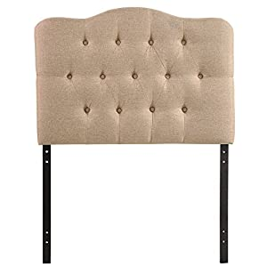 Modway Annabel Upholstered Tufted Button Fabric Headboard