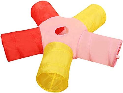Jiyaruキャットトンネル猫トンネル5通 スパイラルねこ ペットおもちゃ猫キャットトンネルペット用品おもちゃ玩具キャットおもちゃ折り畳む収納便利 安全 通気マルチカラータイプ2