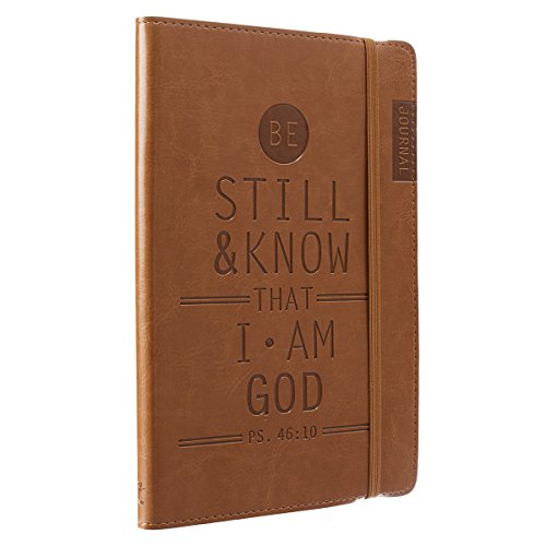 Be Still & Know Tan Flexcover Journal with Elastic Closure - Psalm 46:10 (Keeping The Faith Prayers For College Students)