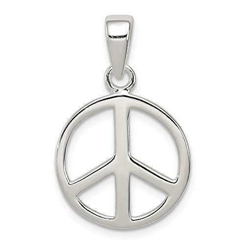 (925 Sterling Silver Peace Sign Pendant Charm Necklace Fine Jewelry Gifts For Women For Her)
