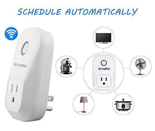GYMAN 1 Alexa Smart Plug Wi-Fi No Hub Required Wireless