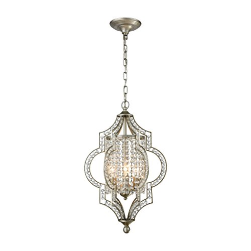 - Alumbrada Collection Gabrielle 3 Light Chandelier In Aged Silver