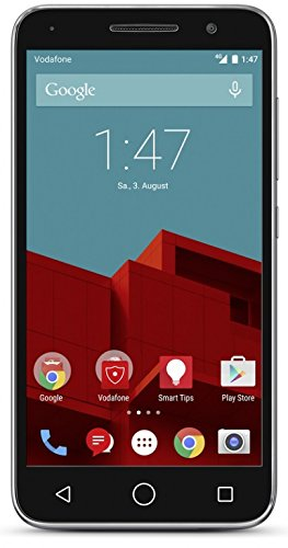 bolsa del cinturón / funda para Vodafone Smart Prime 6, negro + Auriculares | caja del teléfono cubierta protectora bolso - K-S-Trade (TM)