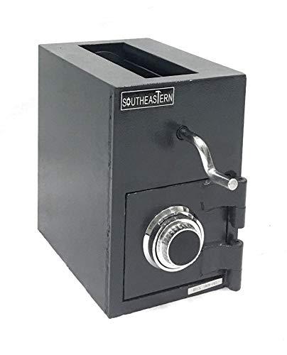 - SOUTHEASTERN RH1309C Top Loading Drop Slot Depository Safe w/Dial Combination Lock