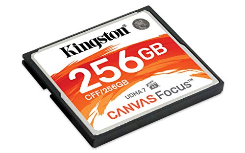 Kingston CF Canvas Focus Compact Flash Memory Card 256GB High Performance for DSLR and Professional Photography Cameras (CFF/256GB)