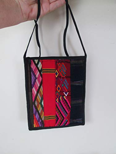 MAYAN AZTEC multi color ethnic Handmade Guatemalan weaving Woven geometric Aztec design huipil Purse handbag Bag Zipper Pouch organizer boho fair trade textile Guatemala hand loomed mayan padded