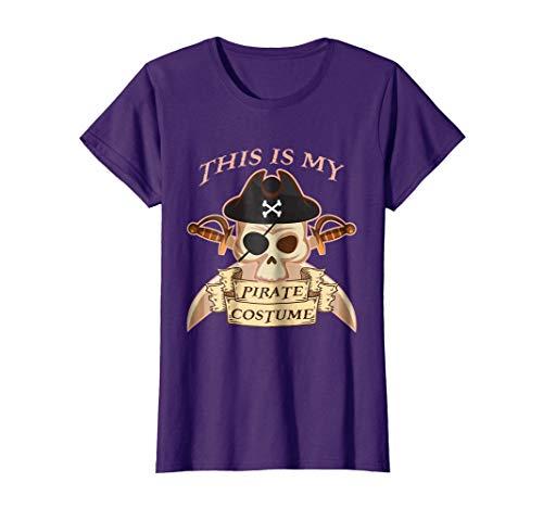 Womens Pirate Costume Shirt Halloween Last Minute Idea Medium Purple