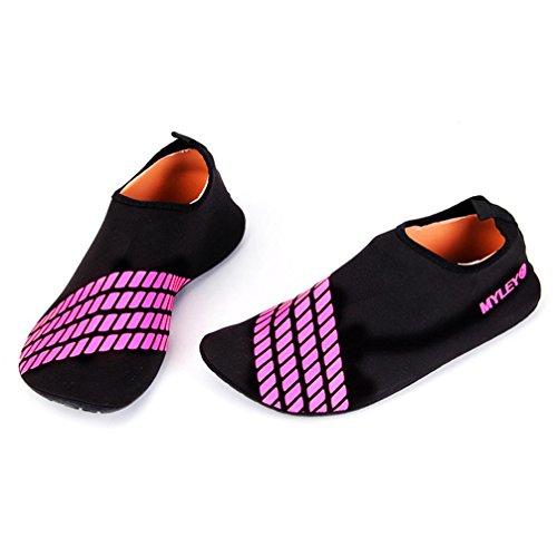 Water Sportschoenen, Inkach Mannen Vrouwen Surfstrand Snorkelen Sportschoenen Zwemmen Duiken Barefoot Sokken Rood