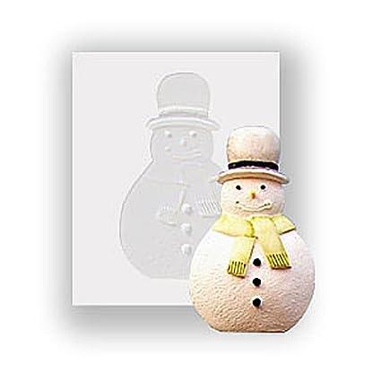 Molde de silicona - de muñeco de nieve - apto para alimentos
