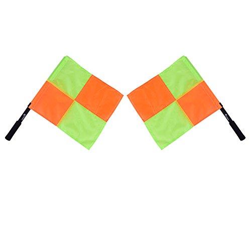 Kosma set of 2 Referee Flag | Umpire Flag | Football Linesman Flag (Umpire Set)