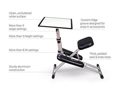The Edge Desk System Ergonomic Adjustable Kneeling Desk