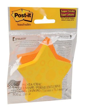POST-IT SUP STCK STAR2PK by POST-IT MfrPartNo 7350-STR - Star Shaped Sticky Notes