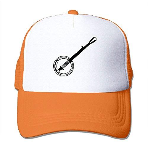 Baseball Musical (NONGFU Musical Instrument Banjo Big Foam Trucker Baseball Cap Mesh Back Adjustable Cap)
