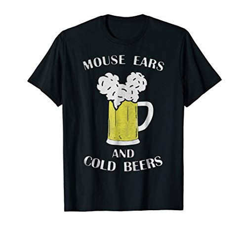 Mouse Ears And Cold Beers Tee Shirt