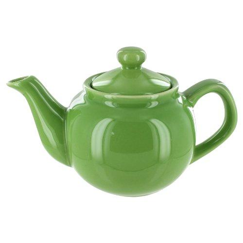 EnglishTeaStore Brand 2 Cup Teapot - Lime Gloss Finish