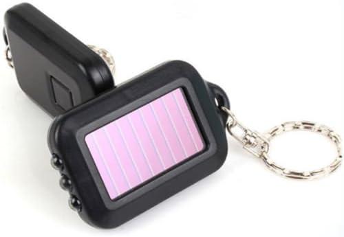 New Portable Light Keyring Lamps Bulbs Flashlight 3 LED Keychain Solar Power
