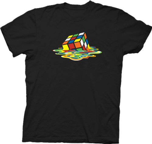 Big Bang Theory Sheldon Cooper Melting Rubik's Cube T-Shirt
