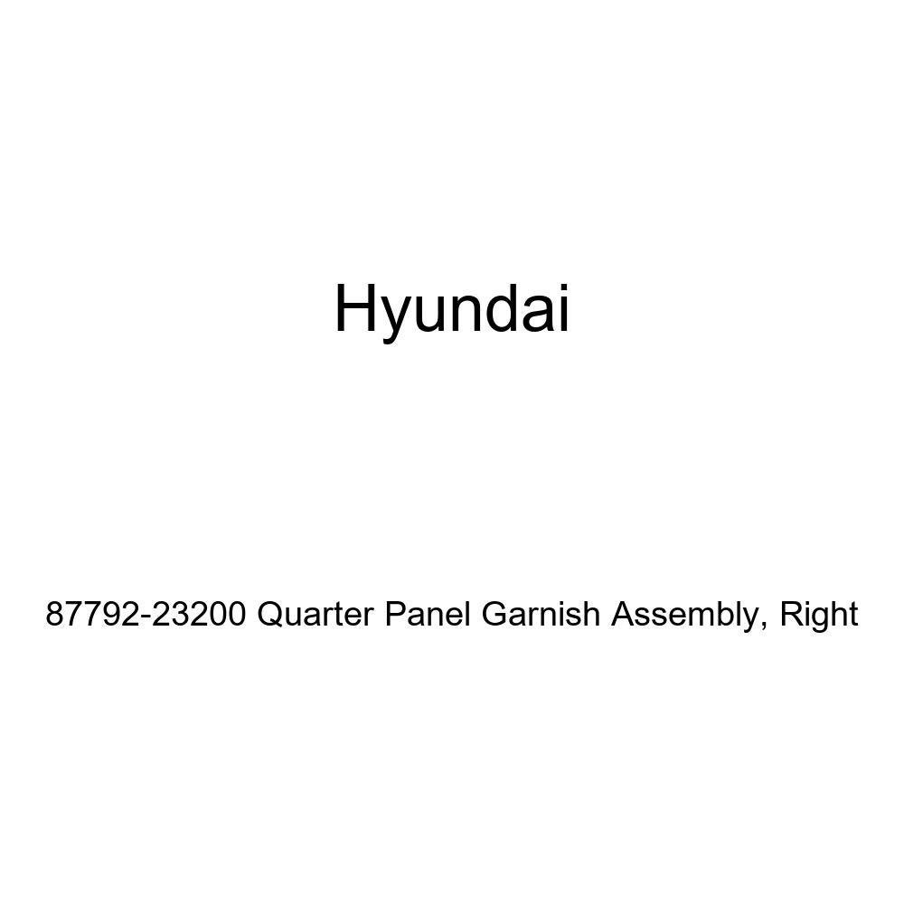 Right Genuine Hyundai 87792-23200 Quarter Panel Garnish Assembly