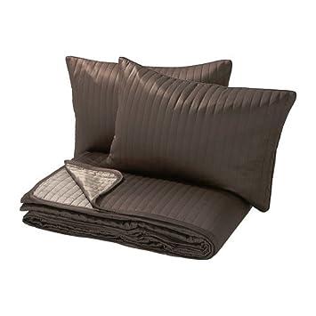 IKEA Karit   Couvre lit et 2 housses de coussin, brun   260 x 280