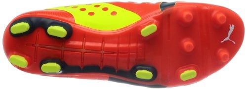 Puma evoPOWER 1 FG - Zapatos de fútbol de material sintético hombre rojo - Rot (fluro peach-ombre blue-fluro yellow 01)