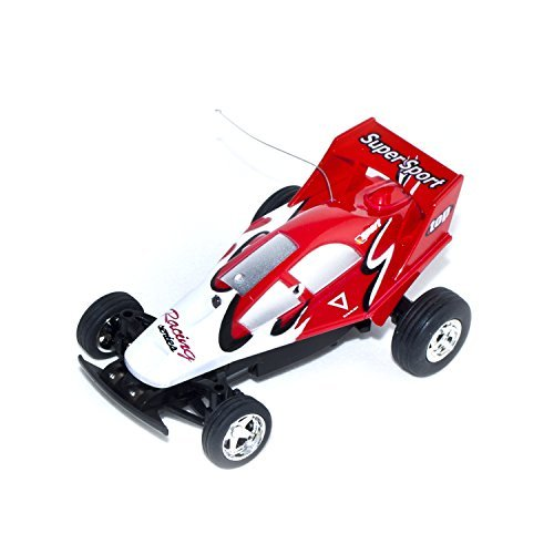 Electric Power Toy Mini RC Buggy, Red 1/52 Scale ()
