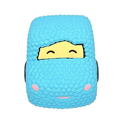 Squishies Jumbo Slow Rising Clearance for Kids! Lovely Squishy Spun Sugar Scented Squeeze Collection Toys Kawaii Fun Car Cartoon Stress Toys for Kids and Adults (Blue)
