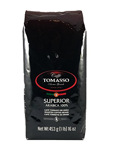 Caffe Tomasso 100% Arabica Whole Beans - Medium Roast - 16 oz.