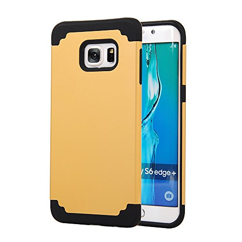 Galaxy S6 Edge Plus Case,SAVYOU 2 In 1Dual Layer Hybrid Gel Shock Absorbing Case Armor Defender Case for Samsung Galaxy S6 Edge Plus(Gold Black)