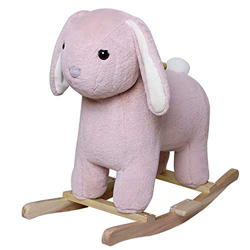 XUELIANG Children Rocking Horse Unicorn Trojan Toy Plush Baby one Year Old Gift Baby Solid Wood Rocking Horse Chair
