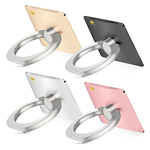 Cellphone Ring Grip, 4PK Smartphone Anti Drop Ring Grip Aluminum Phone Ring...