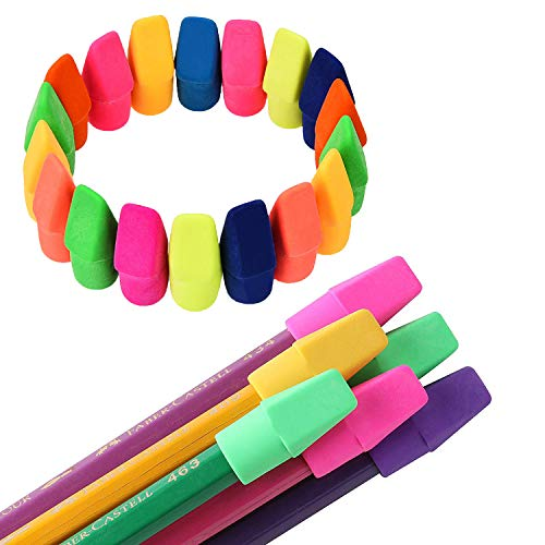 Pencil Eraser Caps Pencils, 200 Pieces pencil Cap Erasers toppers for Kids Students Pencil Top Erasers good for Teachers School Office Supplies by GUOfeudallord
