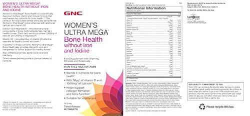 Gnc Salud de las mujeres ultra mega huesos sin hierro y yodo: Amazon.es: Salud y cuidado personal