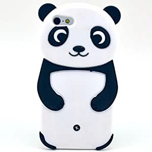 NEW Panda Pattern Silicone Soft Case for iPhone 5/5S (Optional Colors) , Blue