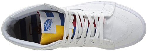 Vans Sk8-Hi, Unisex Adults' High-Top Sneakers White (1966 True White/Blue/Red)
