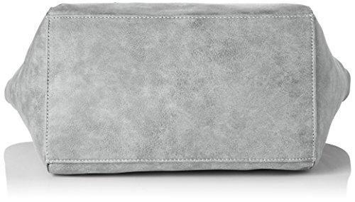 Gabor Damen Elena Schultertasche, 15x24.5x42.5 cm Grau (Grau)