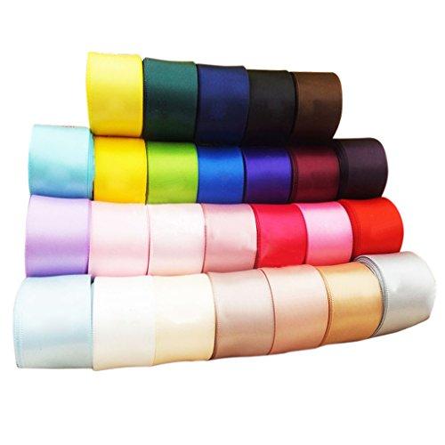 Perfk ミックス 手芸素材 DIY 40mm リボン DIY用リボン 飾り 手芸 雑貨 種類豊富 工芸品 混合色 約24PCSの商品画像