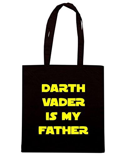 T-Shirtshock - Bolsa para la compra TR0038 Darth Vader Is My Father 25mm 1 Pin Button Badge Star Wars Jedi Novelty Negro