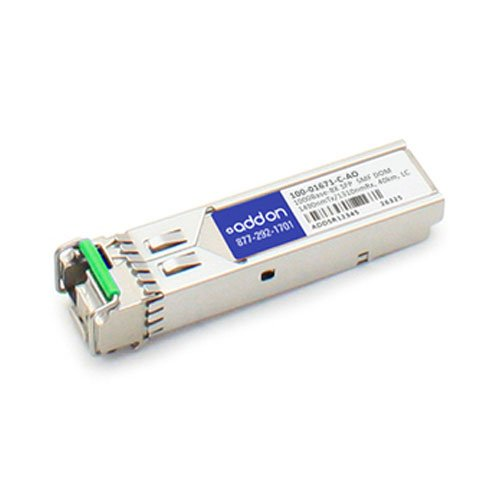 Image of AddOn Calix 100-01671-C Compatible TAA Compliant 1000Base-BX SFP Transceiver (SMF, 1490nmTx/1310nmRx, 40km, LC, DOM) Network Transceivers