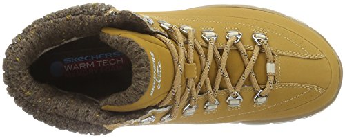 Skechers (SKEES) SYNERGY-WINTER NIGHTS - Zapatillas de deporte para mujer, color beige, talla 37.5