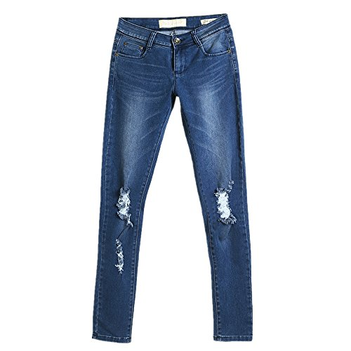 Color Size L NEW haute pour Blue femmes Blue sexy Jeans taille 88wqYzO
