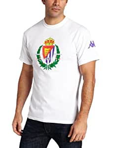 Kappa Men's Real Valladolid Logo Short Sleeve T-Shirt, White, XX-Large