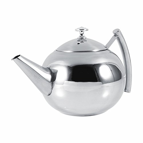 unbrand 1.5L Stainless Steel Kettle Kitchen Coffee Pot Restaurant Container Home Hotel Cafe Bar Water Jug with Filter Teapot by unbrand (Image #2)