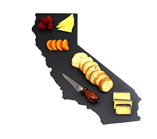 (Custom California Slate Cutting Board, Serving Tray, or Cheese Board- Personalized with Laser Engraving)