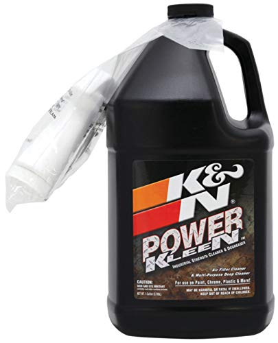 K&N Air Filter Cleaner and Degreaser: Power Kleen; 1 Gallon; Restore Engine Air Filter Performance, 99-0635